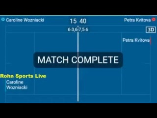 CAROLINE WOZNIACKI vs PETRA KVITOVA WTA 2018 Live Streaming