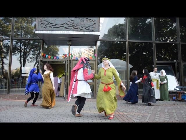 Средневековый танец сальтарелла Берестейская маёвка 2016 Брест 28 мая 2016 г