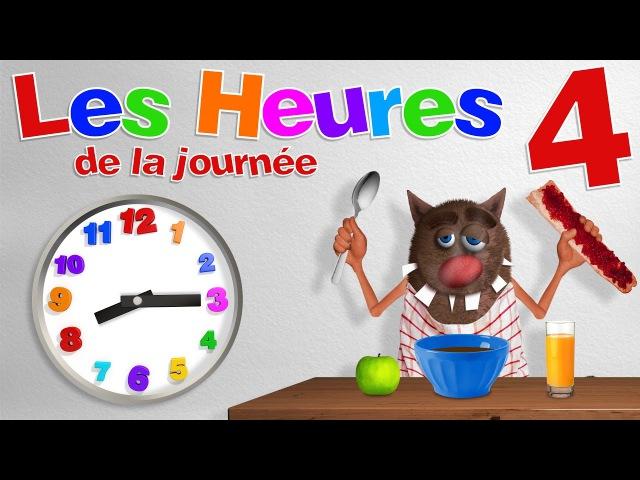 Apprendre aux enfants à lire les heures (Learn to read a clock for Kids, Toddlers - Serie 04) 4k
