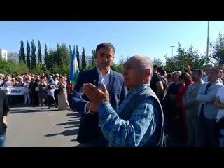 """Выступление писателя и поэта Зигата Султанова на митинге """"В защиту башкирского языка"""""""