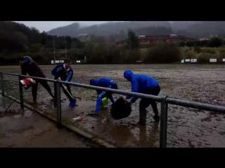 Mud field. rugby. регби