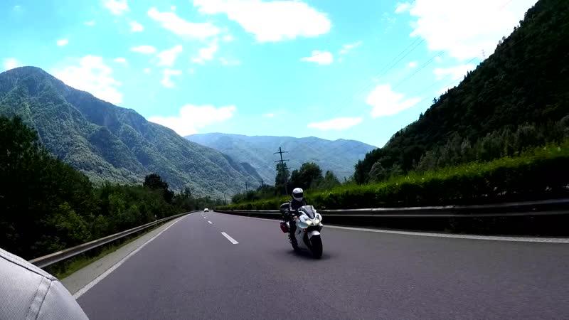Мотовикинги в Швейцарии Дорога