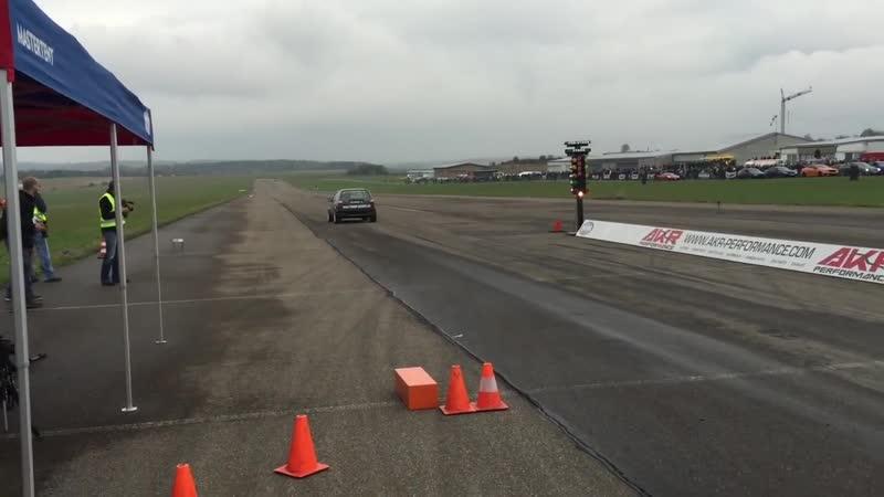 VW Golf Mk2 VR6 Turbo 4motion 1000 HP 1 4 Mile Drag Race Turbo Gockel Renner 3 Flugplatzblasen