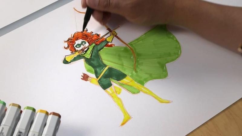 "Pixar Animation Studios on Instagram: ""Meet Merida, reimagined. She'll be shooting for her own superhuman hand! 🎯 Incredibles2 is on Digital, @mov..."