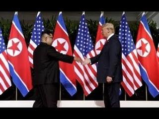Срочно! В Сингапуре началась ИСТОРИЧЕСКАЯ встреча Трампа и Ким Чен Ына! Первые кадры!