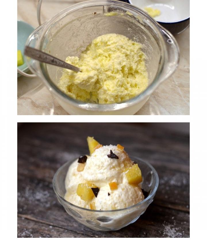 Холодный десерт из ананаса и сливочного сыра, изображение №3