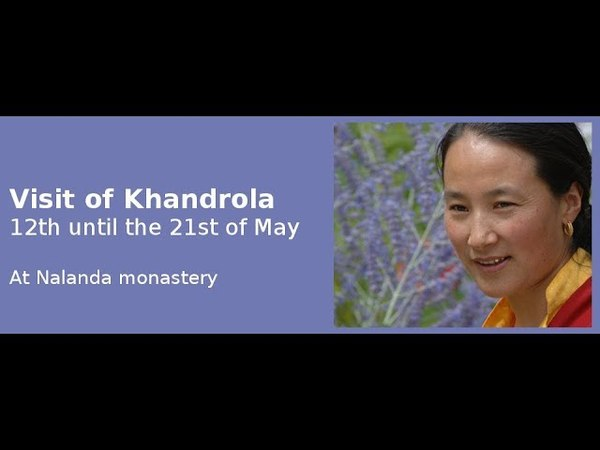 Khadro-la in Nalanda- с переводом на русский