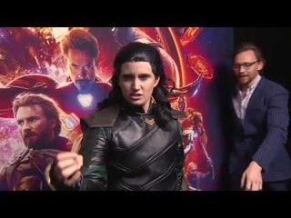 Tom Hiddleston Surprises Fans Dressed As Loki | Avengers: Infinity War
