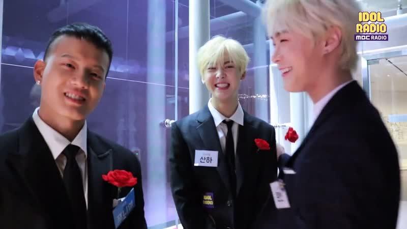 [BACKSTAGE] 190410 Пыниэль, Ильхун, Мунбин и Санха (ASTRO) @ MBC 'Idol Radio'