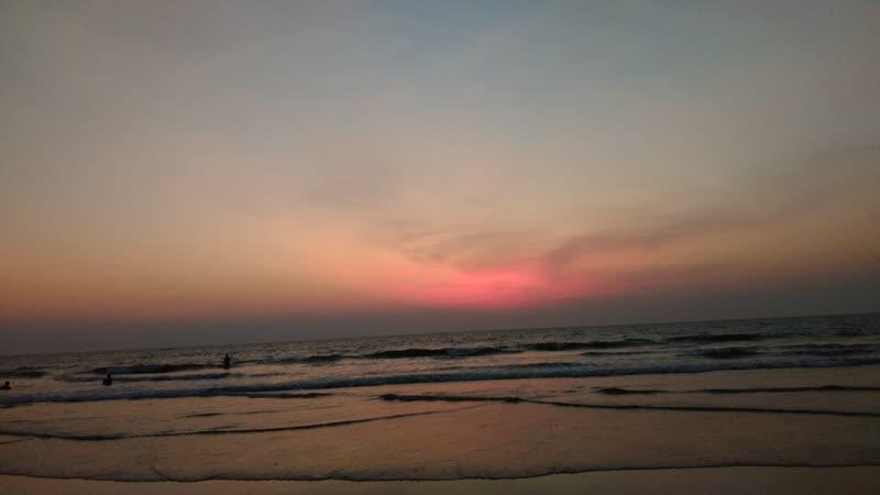 Sunset, Morjim Beach, Goa