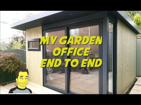My Garden office Garden room Summer house Build end to end ManCave or SheShed