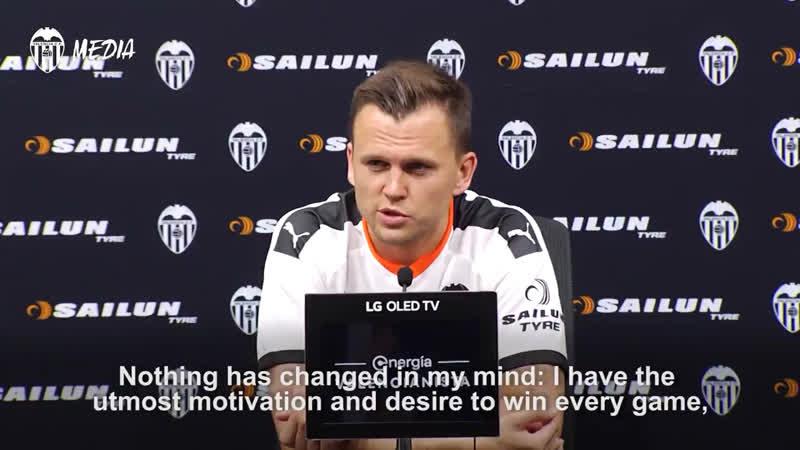 Черышев: «Мне в «Валенсии» очень комфортно».