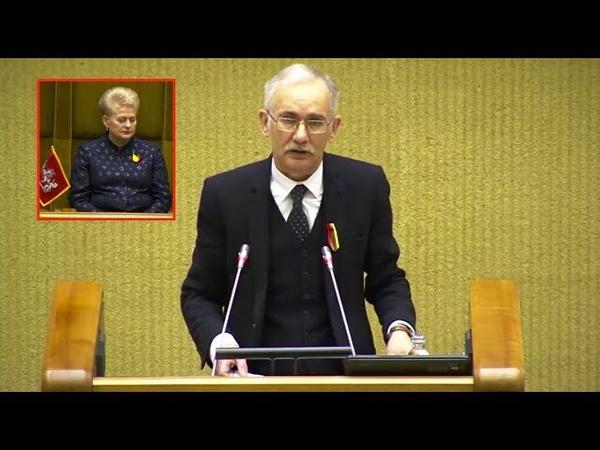 Signataro Egidijaus Bičkausko kalba Kovo 11 osios proga 2019 03 11