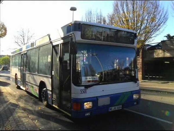 [Sound] Bus MAN NL 202 (NE-AC 8004) der Fa Omnibusbetrieb Caillard GmbH, Dormagen (Kreis Neuss)