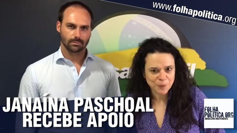 Eduardo Bolsonaro e Major Olímpio se unem em apoio a Janaína Paschoal para presidente da Assembleia
