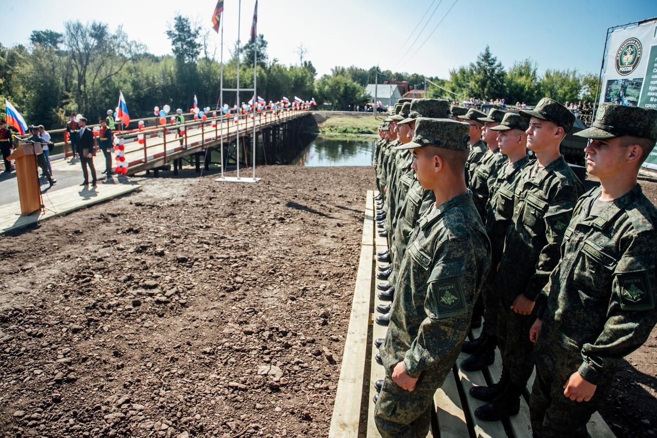 ВКурске открыли низководный мост, основанный военнослужащими разработчиками