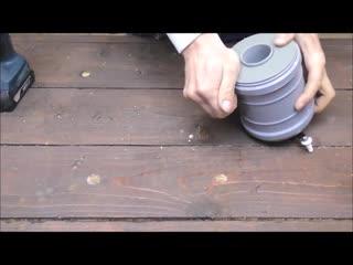 Хитрая идея из муфты 110 мм! Creates DIY