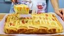 Творожный Пирог с Персиками или другими фруктами!