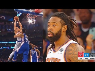 Ben Simmons Gets Murdered By Kevin Knox Craziest Dunk & By Jayson Tatum! Sixers vs Knicks