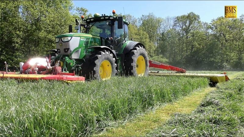 Großeinsatz Grasernte 2019 Gras mähen - wenden - häckseln u. silieren 1. Schnitt - Claas Jaguar 850