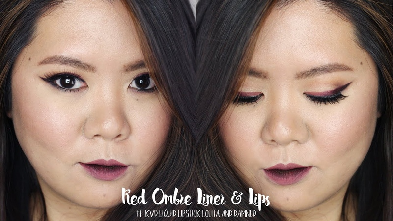 Ombre Liner Lips ft KVD Lolita Damned Kirei Makeup