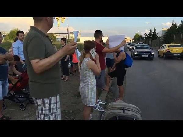 Protest la Bragadiru pentru 1 metru de trotuar - Curaj.TV