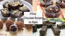 4 Easy Chocolate Sweets Chocolate Recipes for Raksha Bandhan Instant Chocolate Desserts