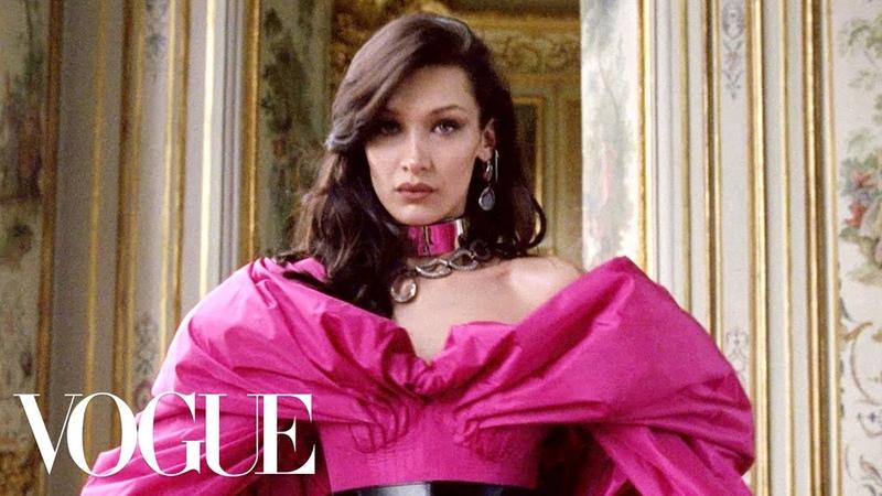 Bella Hadid Models Fall's Paris Collections   Vogue