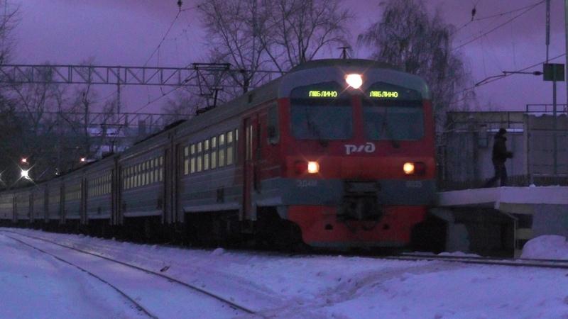 Электропоезд ЭД4М-0035 платформа Станколит