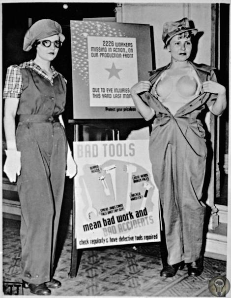 До Второй мировой, женщины не очень-то хотели пользоваться бюсгальтером