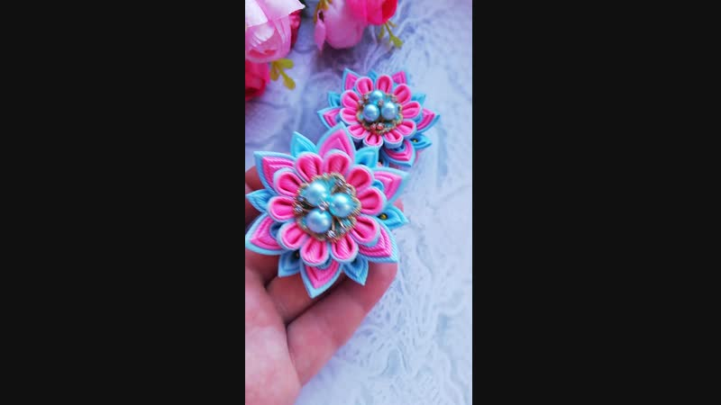 Многослойка яркий розовый и голубой
