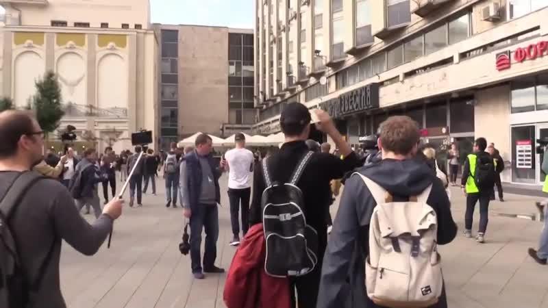 Задержание Павла Устинова, за которое прокурор просит 6 лет