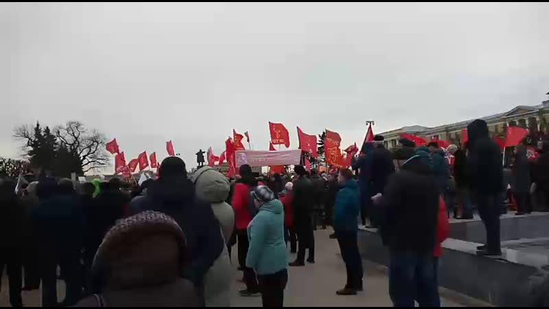 23 марта 2019 СПб Сбор подписей на митинге КПРФ