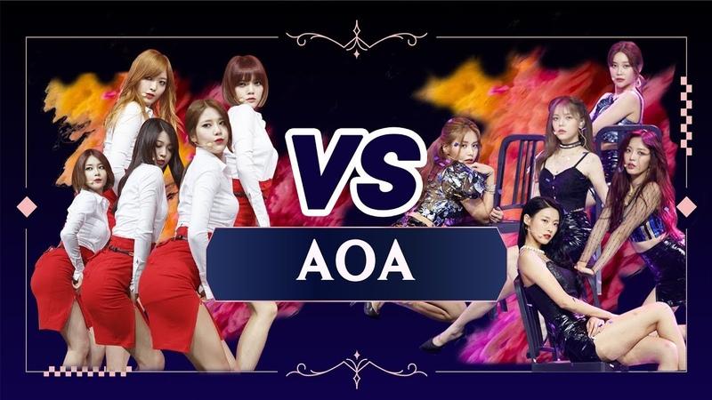 [퀸vs퀸] AOA(2014 vs 2019) '짧은 치마' (Queen vs Queen AOA(2014 vs 2019) 'Miniskirt') @퀸덤(Queendom)