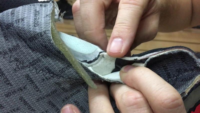 Разрезали ботинок Prabos.