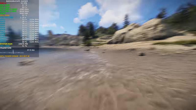 [Bang4BuckPC Gamer] Rust Maximum Settings 4K   RTX 2080 Ti   i7 8700K 5.3GHz