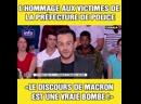 Macron L'hommage aux victimes de la préfecture de police