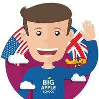 Логотип Английский язык / BigAppleSchool