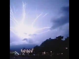 Amazing lightning crawlers over antigua, guatemala last night 8th july!