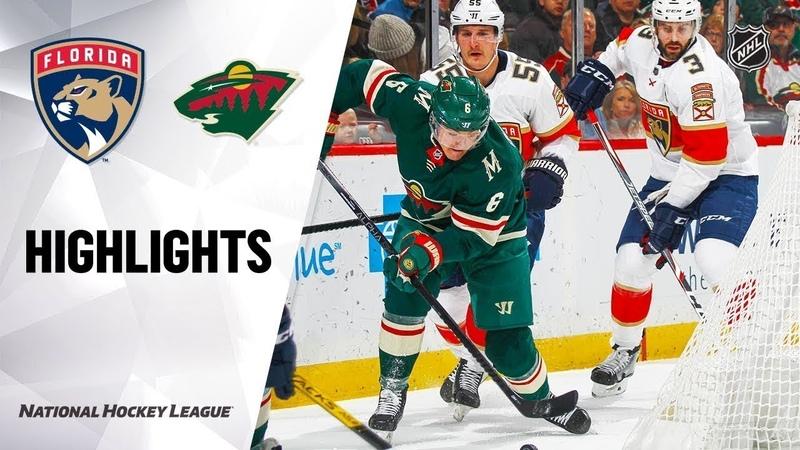 Миннесота Флорида NHL Highlights Panthers @ Wild 1 20 20
