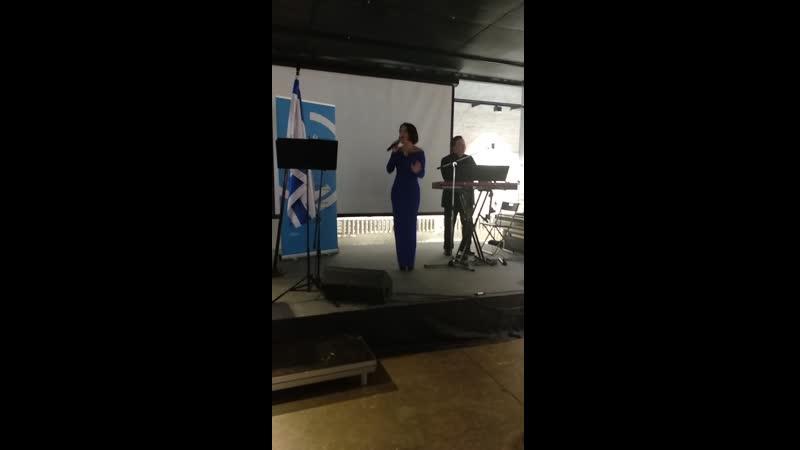 Алла Рид на фестивале иврита Финалистка шоу Голос