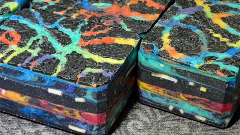 Northern Lights by Black Cat Blues-Premium Hand Made Art Soap