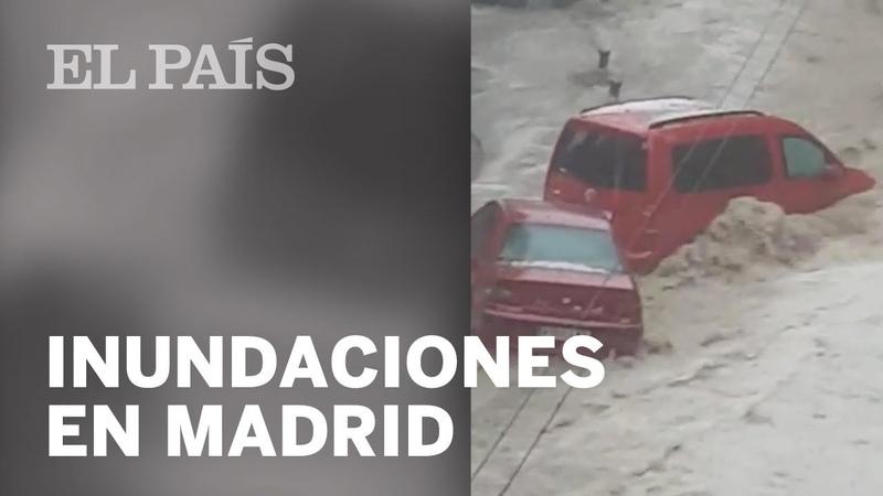 FUERTES TORMENTAS en Madrid provocan inundaciones en Arganda del Rey y zona sur