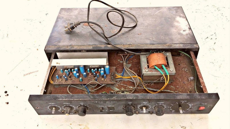 Restoration reuse antique STEREO audio amplifier Restore Repair broken 120w Amplifier