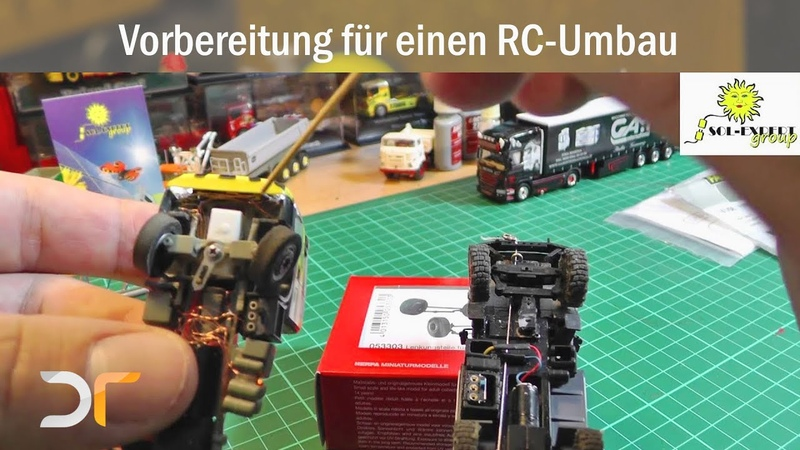 Vorbereitung für ein Tutorial zum Umbau eines Herpa Trucks vom Standmodell zum Fahrmodell RC 1 87