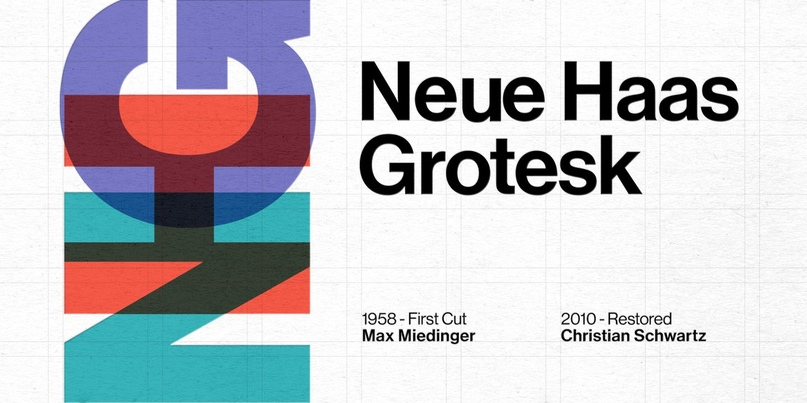 шрифт Neue Haas Grotesk
