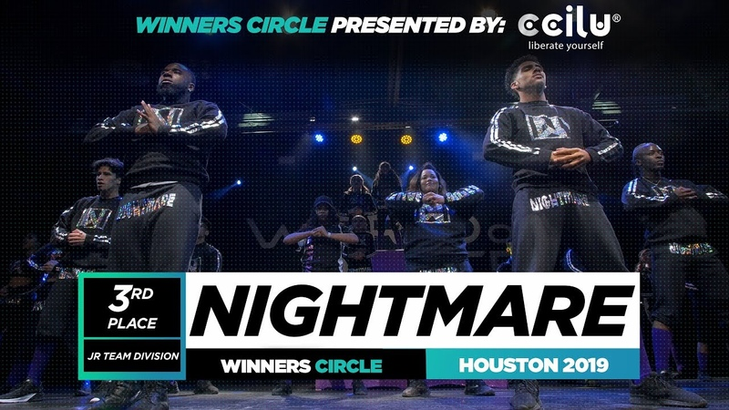 NIGHTMARE 3rd Place Jr Team Winner Circle World of Dance Houston 2019 WODHTOWN
