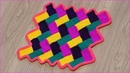 Вязание коврика Паркет с волнистыми краями тунисским крючком Часть 2 Crochet mat Part 2