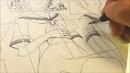 作画風景01 リリィシステム 6 P2-3 下描き・ペン入れ