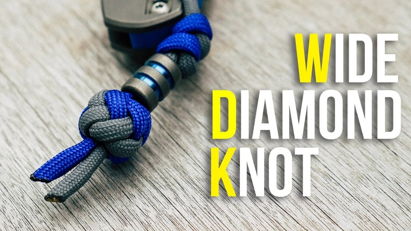 💎Tie A Wide Diamond Knot Tutorial   Wide Paracord Lanyard Knot